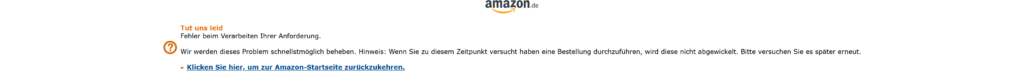 Amazon Server Down durch Playstation 5 Anfragen